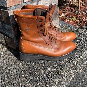 Wolverine leather boots